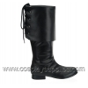 PIRATE-100 Black Faux Leather